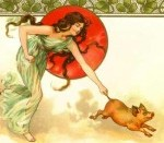 A Muse will not chase a pig